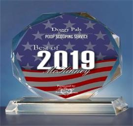 Doggy Pals Awarded Best of Mckinney 2019 Dog Poop Scoop Service
